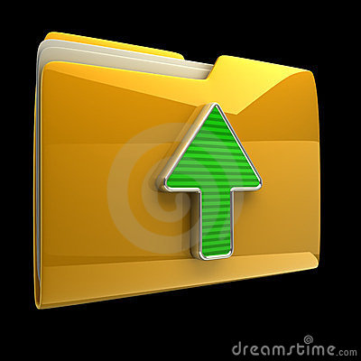 Yellow folder and arrow icon.