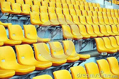 Yellow football seats