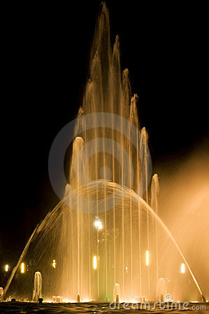 Yellow fountain