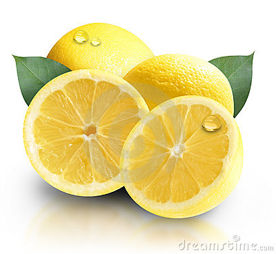 Yellow Fruit Lemons Isolated