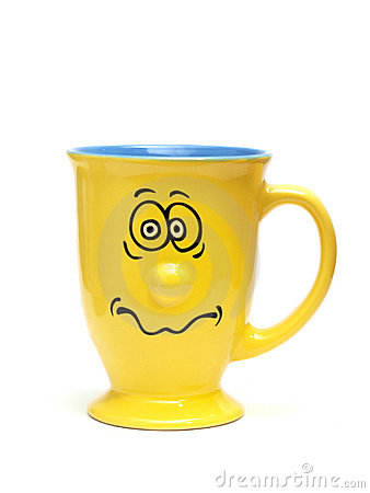 Yellow Funny Cup