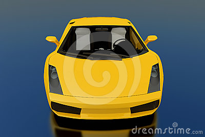Yellow Gallardo Editorial Stock Image