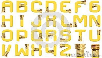 Yellow Garden Hose Alphabet