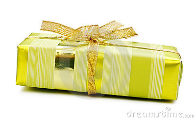 Yellow gift box