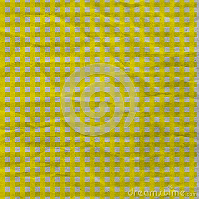 Yellow Gingham Crumpled Paper
