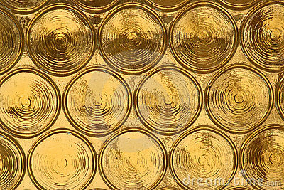 Yellow glass circles, background