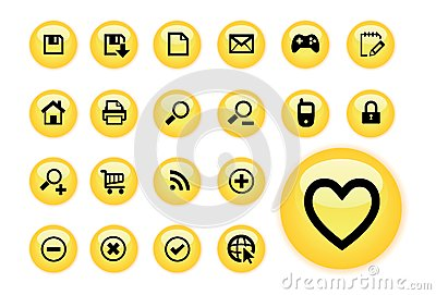 Yellow Glow web buttons