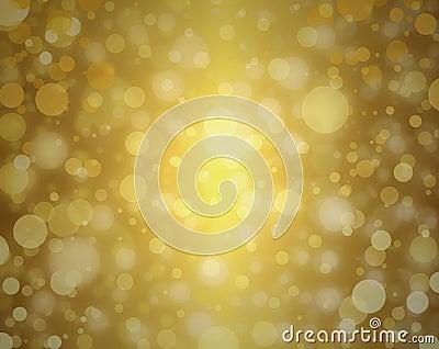 Yellow gold bubble background white Christmas lights blurred background decor elegant celebration design