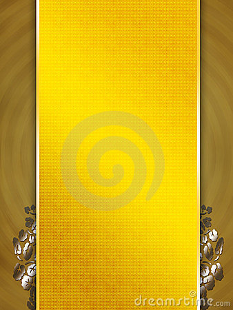 Yellow golden template