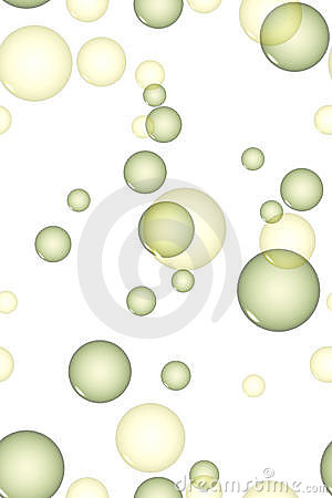 Yellow and green bubbles