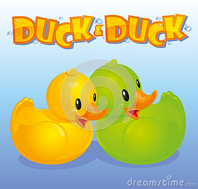 Yellow and green ducks