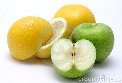 Yellow and Green Fruits