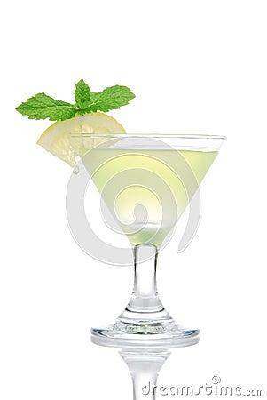 Free Yellow Green Martini Mojito Cocktail Drink Stock Photo - 18960020
