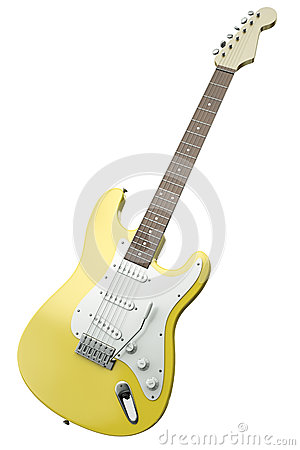 Yellow Guitar Stock Photography - Image: 34521142