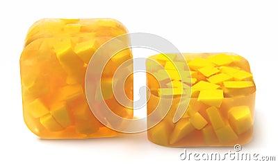 Yellow handmade soap