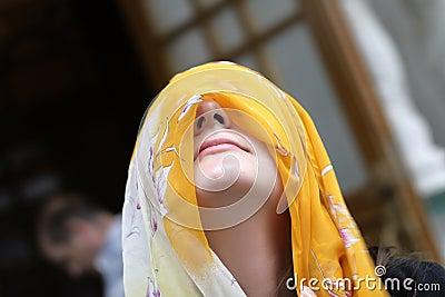 Yellow headscarf