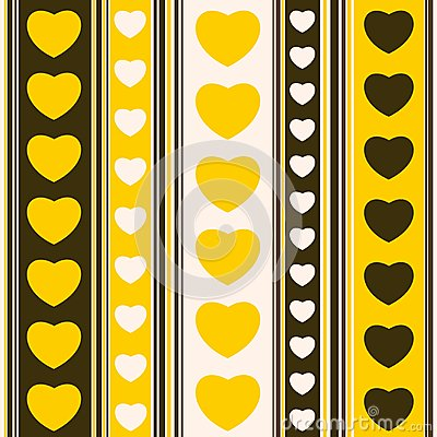 Yellow hearts and strips