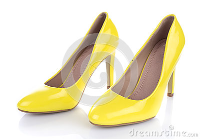 Yellow High Heels Shoes Stock Photo - Image: 40332398