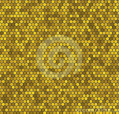 Yellow honeycomb vector background.