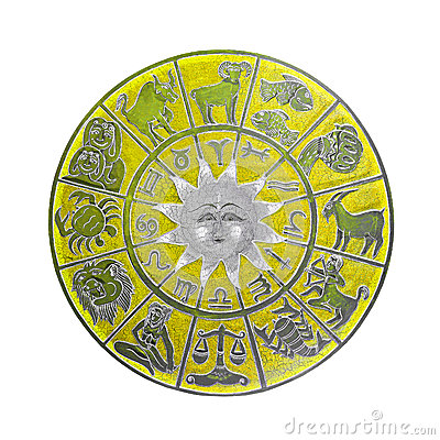 Yellow horoscope wheel