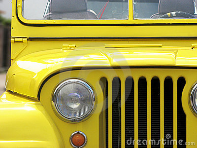 Yellow Jeep Willys