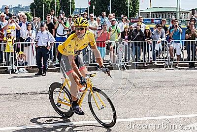 Yellow Jersey- Fabian Cancellara Editorial Image