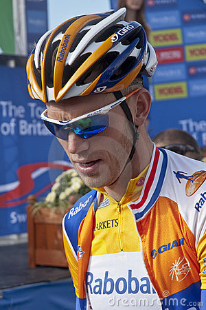 Yellow jersey holder Lars Boom Editorial Stock Photo