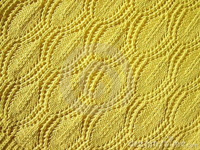 Yellow knitted abstract
