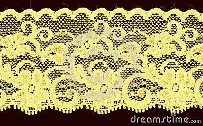 Yellow lace band