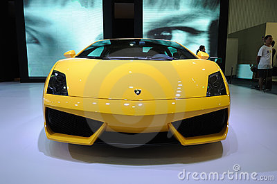 Yellow lamborghini, Gallardo LP 550-2 Coupe Editorial Image