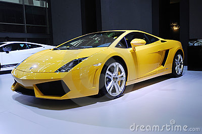 Yellow lamborghini, Gallardo LP 550-2 Coupe Editorial Stock Photo