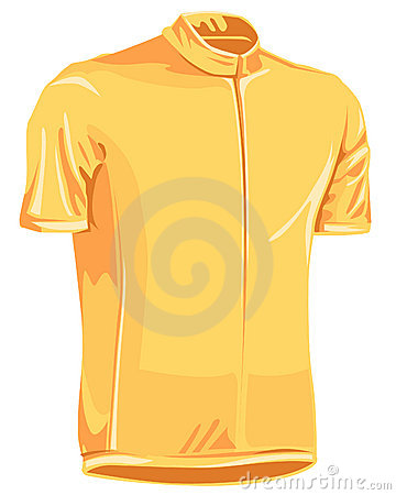Yellow leader bicycle jersey