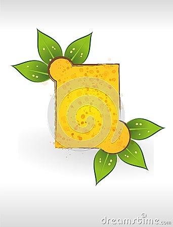 Yellow leaf frame