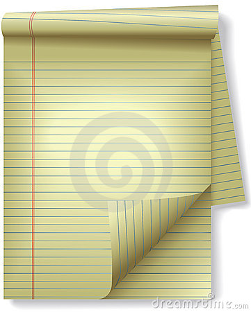Free Yellow Legal Pad Corner Paper Page Curl Spotlight Stock Photos - 4462793