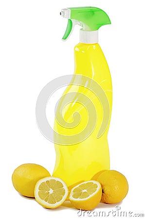 Yellow lemon cleaner