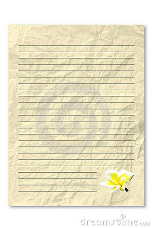 Yellow letter paper