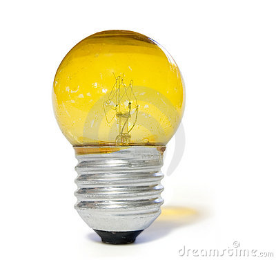 Free Yellow Light Bulb Royalty Free Stock Image - 568296