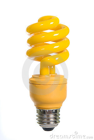 Free Yellow Light Bulb Royalty Free Stock Images - 8040529