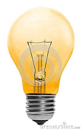 Free Yellow Lightbulb Isolated Stock Photo - 2079250