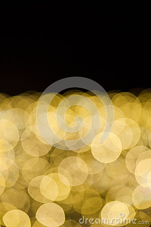 Yellow lights bokeh background