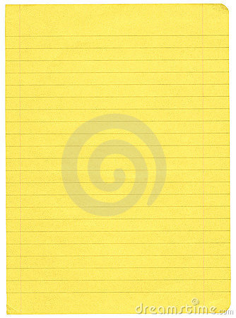 Free Yellow Lined Paper Royalty Free Stock Image - 3133596