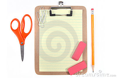 Yellow Lined Paper and School Office Supplies