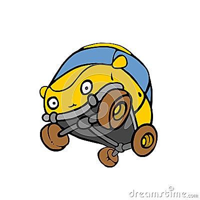 Yellow LIVE Car