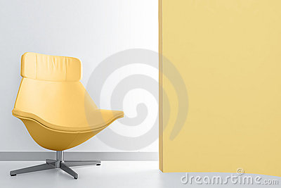 Yellow luxury armchair