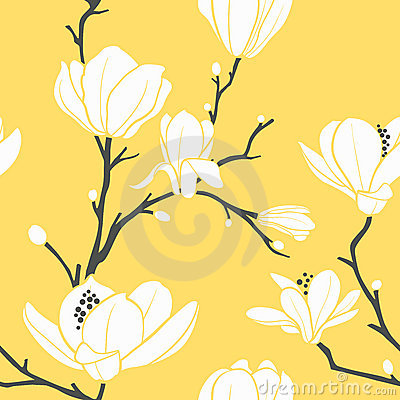 Free Yellow Magnolia Pattern Stock Photo - 16262650