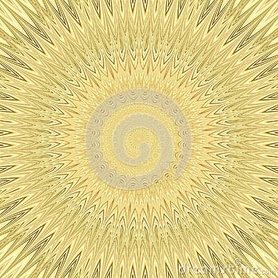 Free Yellow Mandala Sun Explosion Fractal Background - Circular Vector Pattern Design From Curved Stars Stock Photography - 96352362