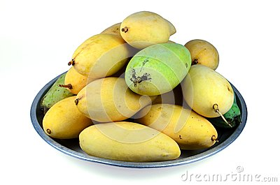 Yellow mango in the bowl