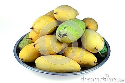 Yellow mango in the bowl