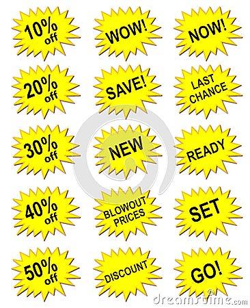 Yellow marketing banner