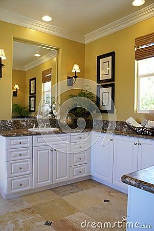 Yellow Master Bath Room Vertical